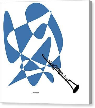 Clarinet In Blue Canvas Print by David Bridburg
