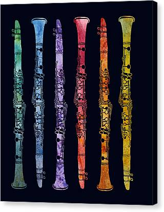 Clarinet Rainbow Canvas Print