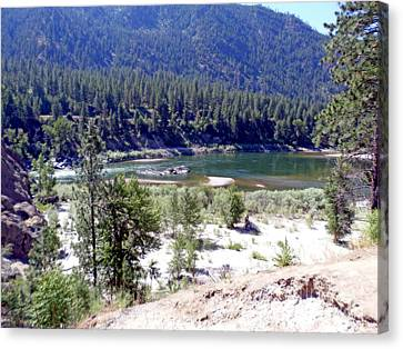 Clark Fork River Missoula Montana Canvas Print by Kay Novy