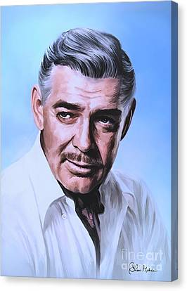Canvas Print featuring the painting  Clark Gable 2 by Andrzej Szczerski