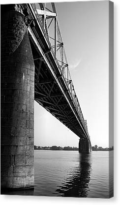 Indiana Landscapes Canvas Print - Clark Memorial Bridge II by Steven Ainsworth