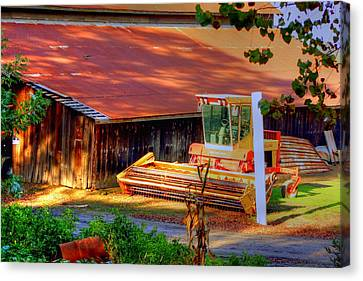 Clarkburg Combine Canvas Print by Randy Wehner Photography