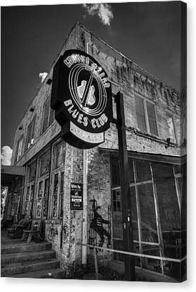 Elvis Canvas Print - Clarksdale - Ground Zero Blues Club 001 Bw by Lance Vaughn