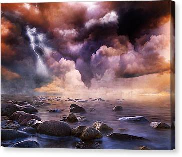 Clash Of The Clouds Canvas Print by Gabriella Weninger - David