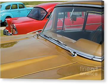 Classic American Cars Parked In Varadero Canvas Print by Sami Sarkis