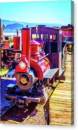Classic Calico Train Canvas Print