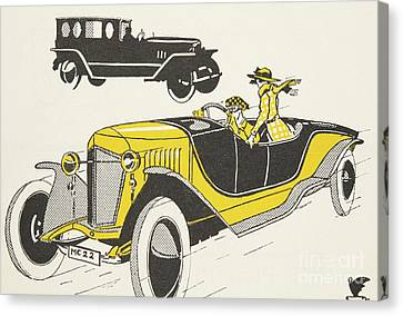 German Cars Canvas Print - Classic Car From The Twenties by German School