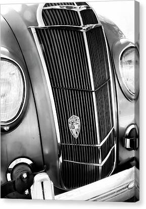 Classic Car Grill 1935 Desoto - Photography Canvas Print by Ann Powell