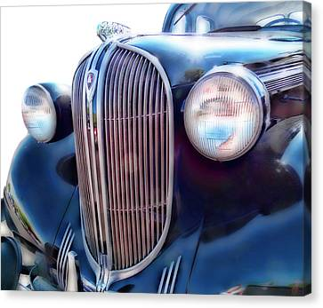 Classic Car Grill 1938 Plymouth Canvas Print by Ann Powell
