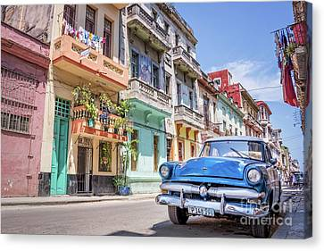 Cuba Canvas Print - Classic Car In Havana, Cuba by Delphimages Photo Creations