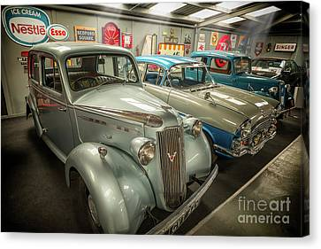 Canvas Print featuring the photograph Classic Car Memorabilia by Adrian Evans
