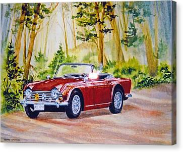 Classic-car Canvas Print by Nancy Newman