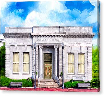 Classic Carnegie Library - Montezuma Georgia Canvas Print by Mark Tisdale