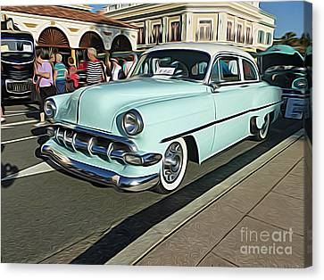 Classic Cars - 1954 Chevy 210 Canvas Print by Jason Freedman