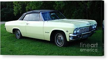 Classic Cars 1965 Chevrolet Impala Super Sport Convertible Canvas Print by Bob Christopher