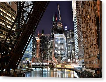 Classic Chicago View Canvas Print by Frozen in Time Fine Art Photography