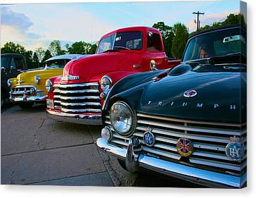 Canvas Print featuring the photograph Classic Chrome Bumpers by Polly Castor