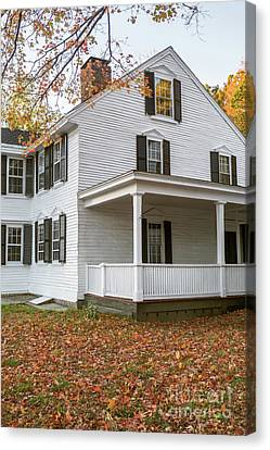 Classic Colonial Home Canvas Print by Edward Fielding