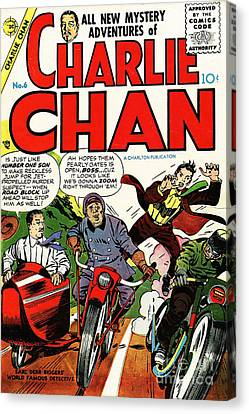 Classic Comic Book Cover Charlie Chan 6 Canvas Print by Wingsdomain Art and Photography