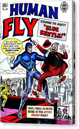 Classic Comic Book Cover - Human Fly - 0118 Canvas Print by Wingsdomain Art and Photography