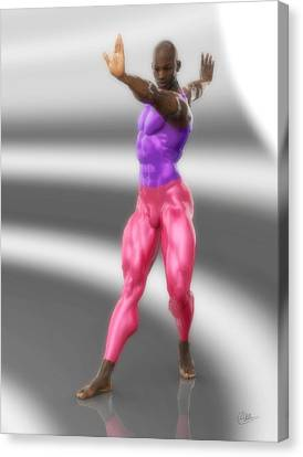 Classic Dancer In Meshes Canvas Print by Joaquin Abella
