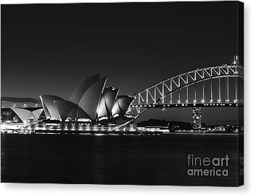 Classic Elegance In Bw Canvas Print