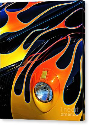 Classic Flames Canvas Print by Perry Webster