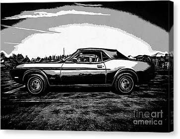 Classic Ford Mustang Canvas Print by Edward Fielding