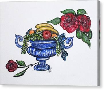Classic Fruit Bowl Canvas Print