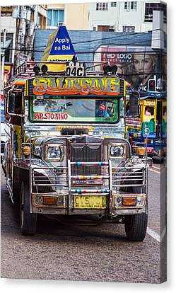 Road Canvas Print - Classic Jeepney by James BO Insogna