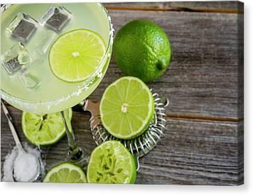 Canvas Print featuring the photograph Classic Lime Margarita by Teri Virbickis