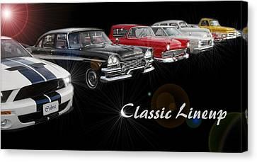 Classic Lineup Canvas Print by David and Lynn Keller