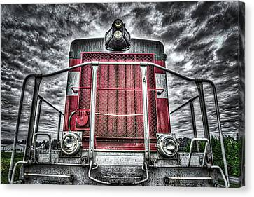Canvas Print featuring the photograph Classic Locomotive by Spencer McDonald