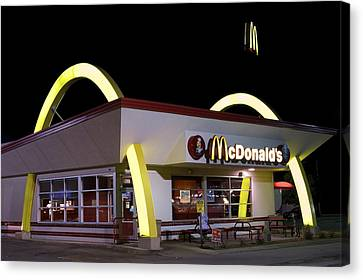 Classic Mcdonalds Canvas Print by Frozen in Time Fine Art Photography