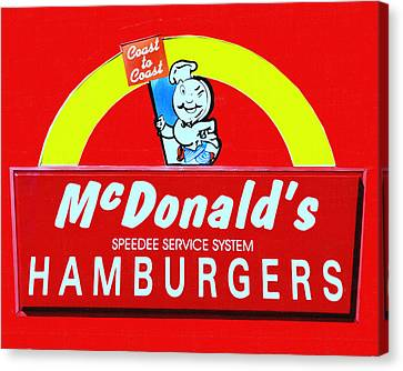 Classic Mcdonald's Hamburgers - Billion Served - Painterly Canvas Print