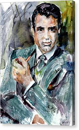 Classic Movies Actor Cary Grant  Canvas Print by Ginette Callaway