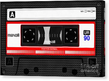Cassettes Canvas Print - Classic Music Cassette Tape Painting by Edward Fielding