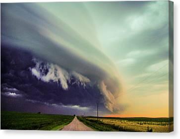 Classic Nebraska Shelf Cloud 024 Canvas Print