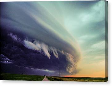 Classic Nebraska Shelf Cloud 027 Canvas Print
