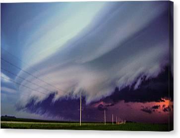 Classic Nebraska Shelf Cloud 028 Canvas Print