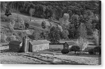 Classic New England Bw Canvas Print by Bill Wakeley