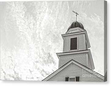 Classic New England Church Etna New Hampshire Canvas Print by Edward Fielding