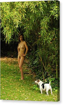 Classic Nude And Companion  Canvas Print