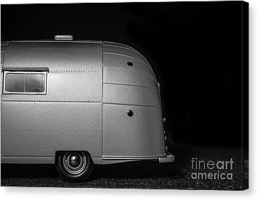 Old Trucks Canvas Print - Classic Old Airstream Vintage Travel Camping Trailer by Edward Fielding