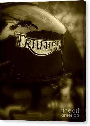 Classic Old Triumph Canvas Print by Perry Webster