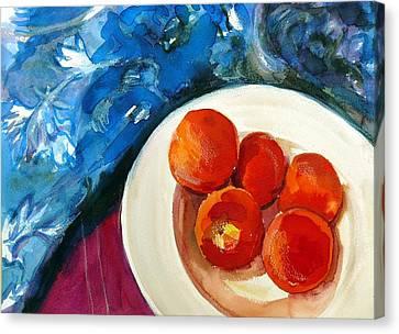 Classic Peaches Canvas Print by Doranne Alden