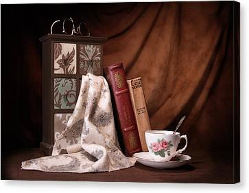 Classic Reads Still Life Canvas Print by Tom Mc Nemar
