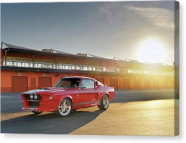 Classic Recreations Shelby Gt500cr Canvas Print by Drew Phillips