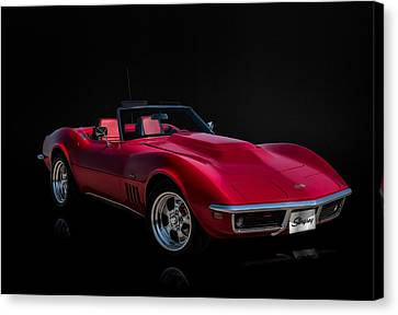 Classic Red Corvette Canvas Print by Douglas Pittman