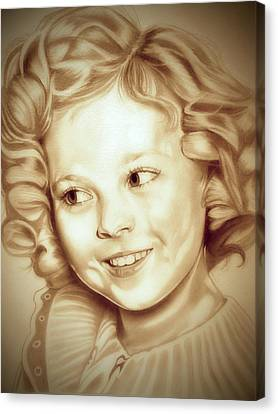Black Top Canvas Print - Classic Shirley Temple by Fred Larucci